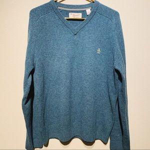 Original Penguin V-Neck Wool Sweater XL